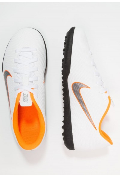 Nike MERCURIAL VAPORX 12 CLUB TF - Chaussures de foot multicrampons white/chrome/total orange liquidation