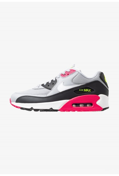 Nike AIR MAX 90 ESSENTIAL - Baskets basses wolf grey/white/rush pink/volt/anthracite/black liquidation