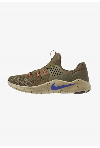Black Friday 2020 | Nike FREE TRAINER V8 - Chaussures d'entraînement et de fitness olive/indigo burst/neutral olive/black/total crimson liquidation