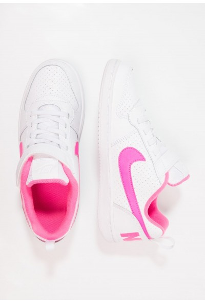 Nike COURT BOROUGH - Baskets basses white/pink blast liquidation