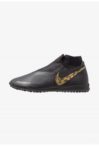 Nike PHANTOM OBRAX 3 ACADEMY DF TF - Chaussures de foot multicrampons black/metallic vivid gold liquidation