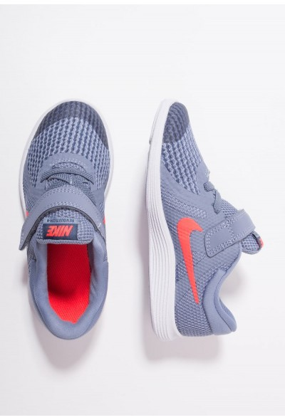 Nike REVOLUTION 4 - Chaussures de running neutres ashen slate/flash crimson/diffused blue liquidation
