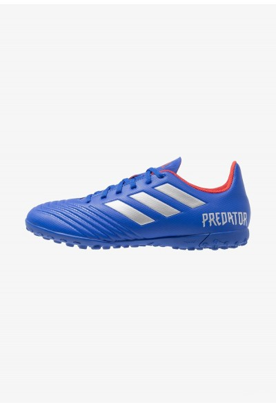 Adidas PREDATOR 19.4 TF - Chaussures de foot multicrampons bold blue/silver metallic/active red pas cher