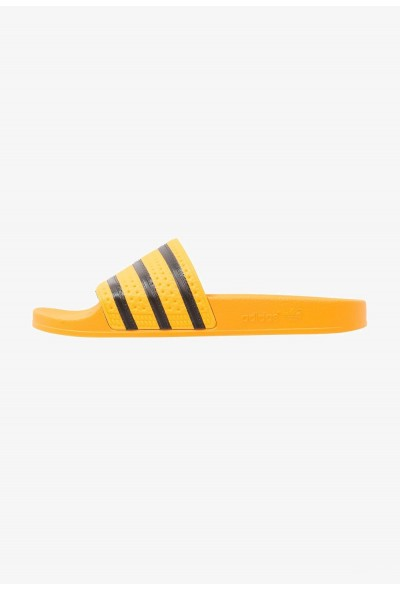 Black Friday 2019 | Adidas ADILETTE - Sandales de bain real gold/core black pas cher