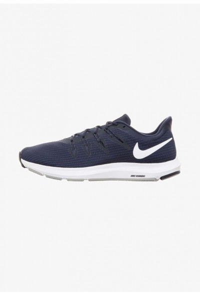 Nike QUEST - Chaussures de running neutres obsidian/white/midnight navy/wolf grey liquidation