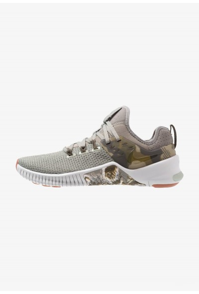 Nike FREE METCON - Chaussures d'entraînement et de fitness dark stucco/olive/light silver/medium brown liquidation