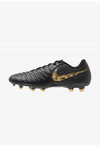 Nike LEGEND 7 ACADEMY FG - Chaussures de foot à crampons black/metallic vivid gold liquidation