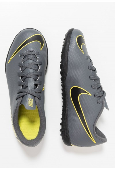 Nike MERCURIAL VAPORX 12 CLUB TF - Chaussures de foot multicrampons dark grey/black/opti yellow liquidation