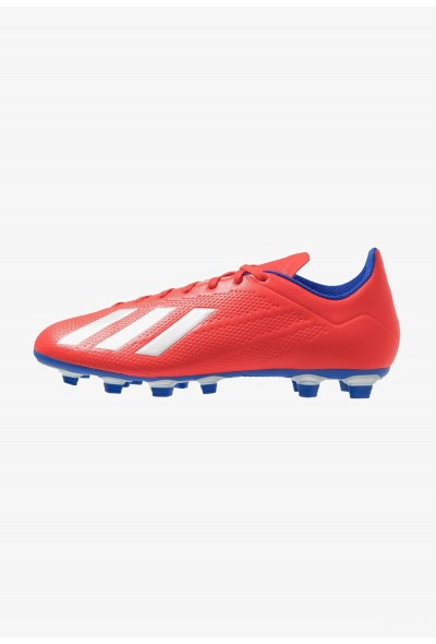 Adidas X 18.4 FG - Chaussures de foot à crampons active red/silver metallic/bold blue pas cher