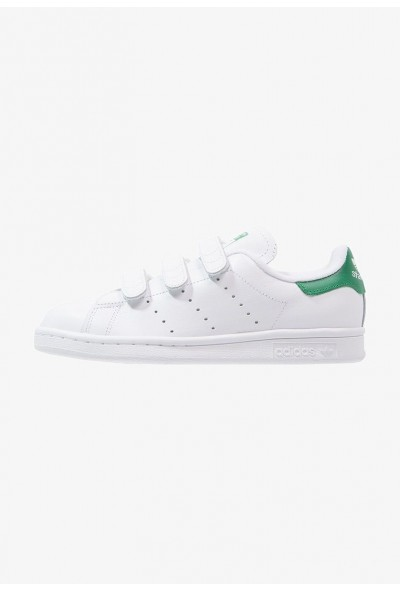 Adidas STAN SMITH  - Baskets basses blanc/vert pas cher
