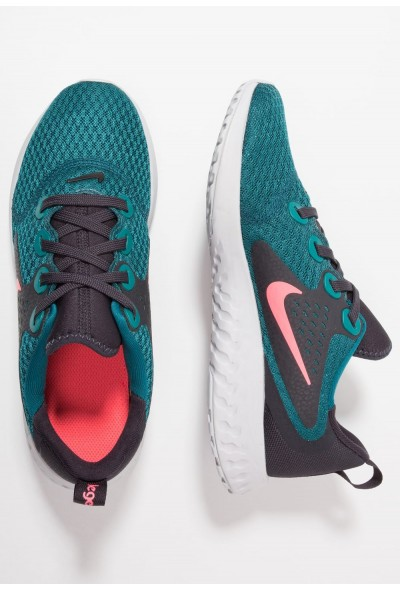 Nike LEGEND REACT - Chaussures de running neutres geode teal/hot punch/oil grey liquidation