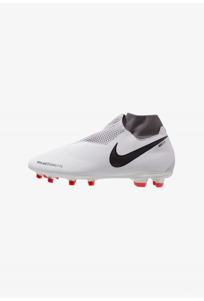 Nike PHANTOM OBRA 3 PRO DF FG - Chaussures de foot à crampons pure platinum/metallic dark grey/wolf grey/light crimson/cool grey/metallic silver liquidation