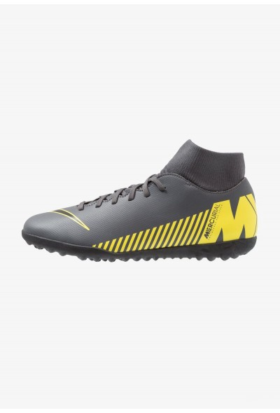 Nike SUPERFLYX 6 CLUB TF - Chaussures de foot multicrampons dark grey/black/opti yellow liquidation