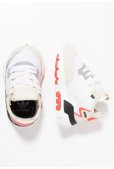 Adidas NITE JOGGER - Mocassins footwear white/crystal white/shock red pas cher