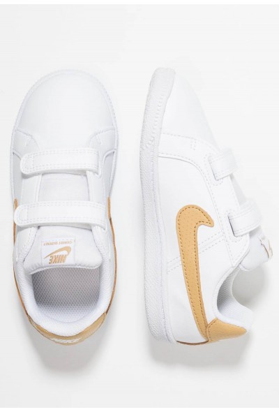 Nike COURT ROYALE - Baskets basses white/club gold liquidation