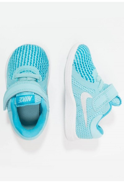 Nike REVOLUTION 4 - Chaussures de running neutres bleached aqua/metallic silver/light blue fury/white liquidation