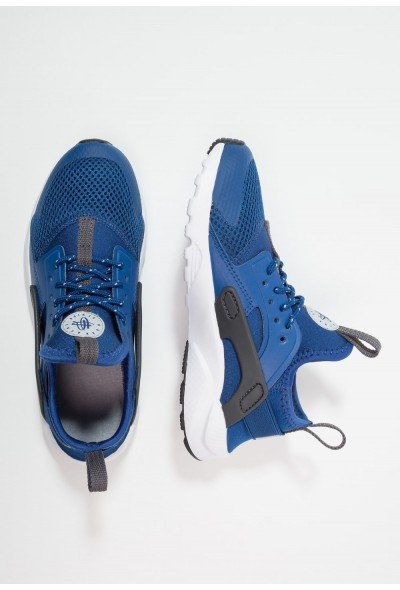 Nike HUARACHE RUN ULTRA (PS) - Baskets basses gym blue/white/dark grey/wolf grey liquidation