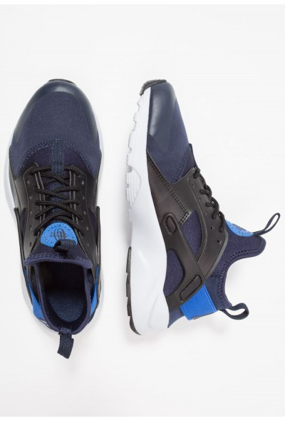 Nike AIR HUARACHE RUN ULTRA - Baskets basses obsidian/signal blue/black liquidation