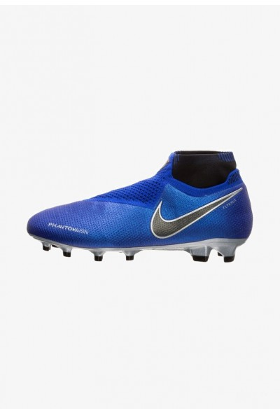 Nike PHANTOM VISION ELITE  - Chaussures de foot à crampons racer blue/black/metallic silver/volt liquidation