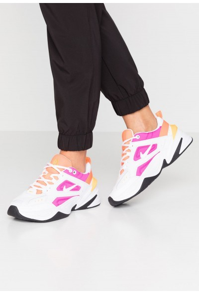 Black Friday 2020 | Nike M2K TEKNO - Baskets basses white/laser fuchsia/hyper crimson/laser orange/oil grey liquidation