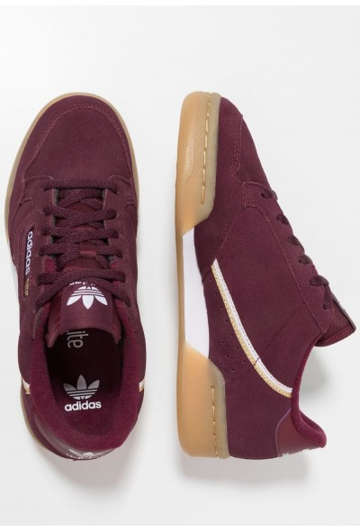 Adidas CONTINENTAL 80 - Baskets basses maroon/footwear white/gold metallic pas cher