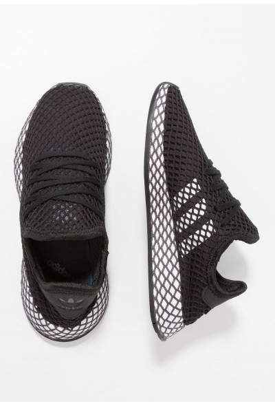 Adidas DEERUPT RUNNER - Baskets basses core black/footwear white/grey five pas cher