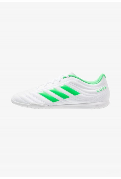 Adidas COPA 19.4 IN - Chaussures de foot en salle footwear white/solar lime pas cher