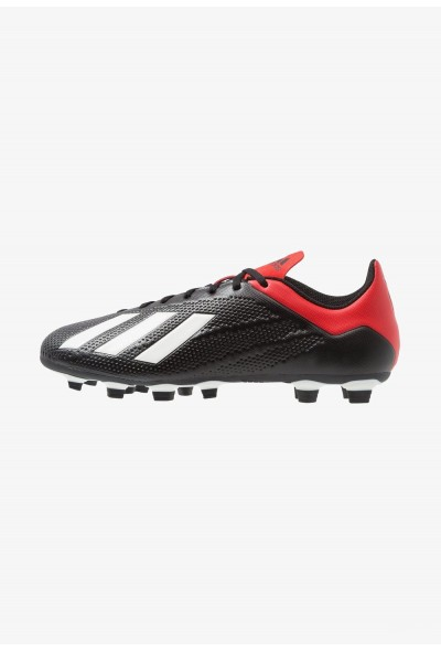 Adidas X 18.4 FG - Chaussures de foot à crampons core black/offwhite/active red pas cher