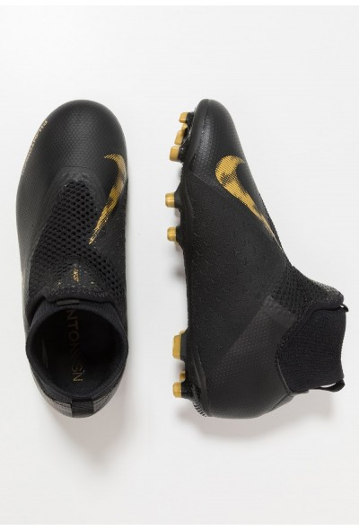 Nike Chaussures de foot à crampons black/metalic vivid gold liquidation