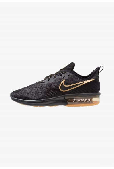 Black Friday 2020 | Nike AIR MAX SEQUENT 4 - Chaussures de running neutres black/anthracite/white/light brown/metallic gold liquidation