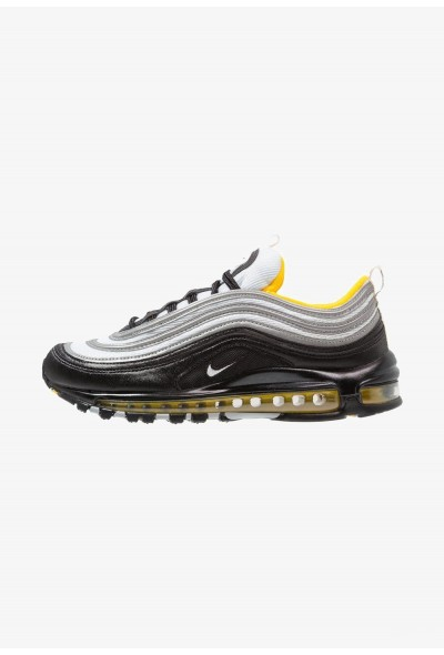 Nike AIR MAX 97 - Baskets basses black/white/amarillo liquidation