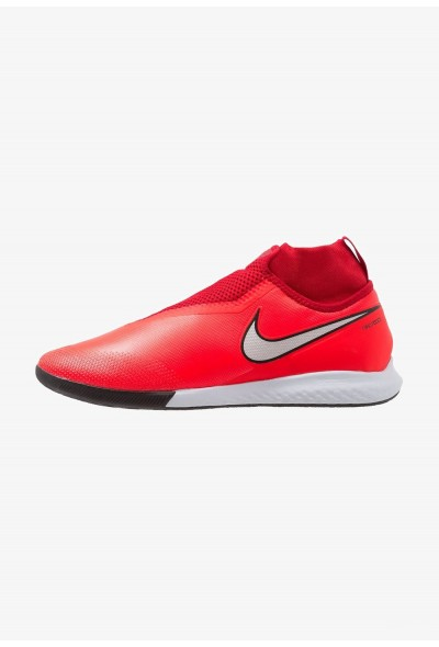 Nike PHANTOM REACT OBRA PRO IC - Chaussures de foot en salle bright crimson/metallic silver/university red/black liquidation
