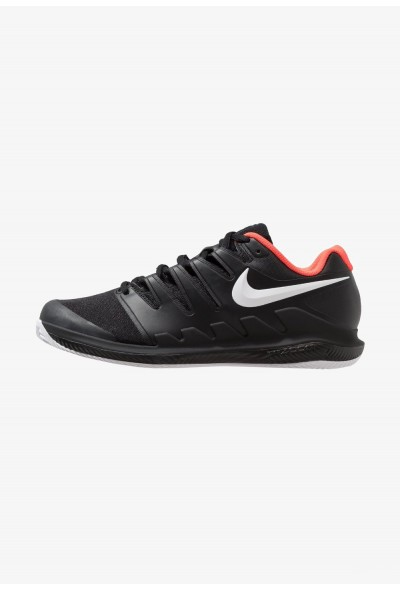 Nike AIR ZOOM VAPOR X CLAY - Chaussures de tennis sur terre battue black/white/bright crimson liquidation