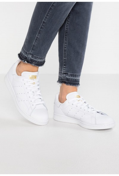 Adidas STAN SMITH - Baskets basses footwear white/real lilac/raw gold pas cher