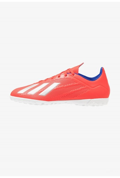 Adidas X 18.4 TF - Chaussures de foot multicrampons active red/silver metallic/bold blue pas cher