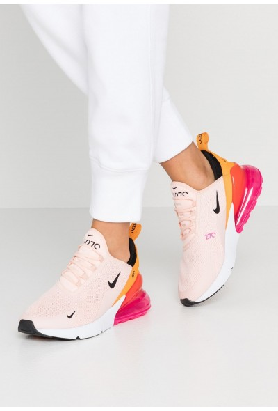 Black Friday 2020 | Nike AIR MAX 270 - Baskets basses washed coral/black/laser fuchsia/orange peel liquidation
