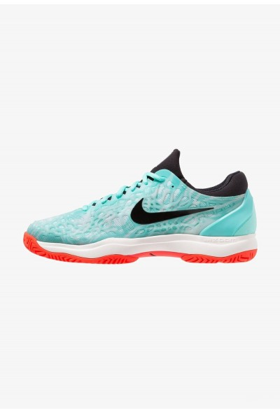 Black Friday 2020 | Nike AIR ZOOM CAGE 3 HC - Chaussures de tennis sur terre battue aurora green/black/teal tint/phantom/bright crimson liquidation