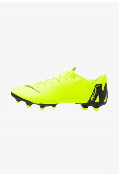 Black Friday 2020 | Nike MERCURIAL VAPOR 12 ACADEMY MG - Chaussures de foot à crampons volt/black liquidation