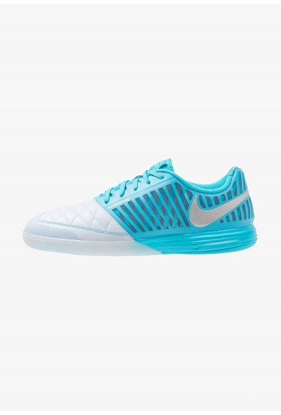 Nike LUNARGATO II - Chaussures de foot en salle half blue/metallic silver/blue fury/flash crimson liquidation