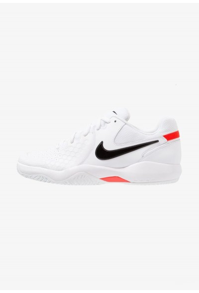 Nike AIR ZOOM RESISTANCE - Chaussures de tennis sur terre battue white/black/bright crimson liquidation