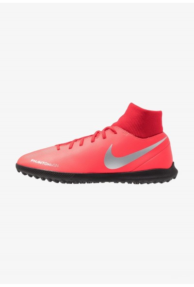 Nike PHANTOM OBRAX 3 CLUB DF TF - Chaussures de foot multicrampons bright crimson/metallic silver/university red/black liquidation