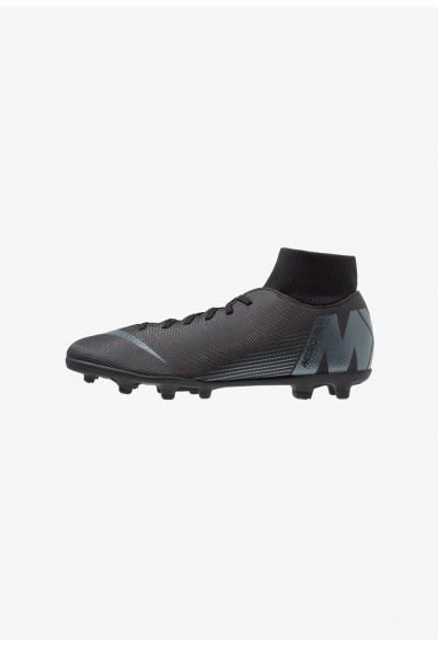 Nike MERCURIAL 6 CLUB MG - Chaussures de foot à crampons black/anthracite/light crimson liquidation