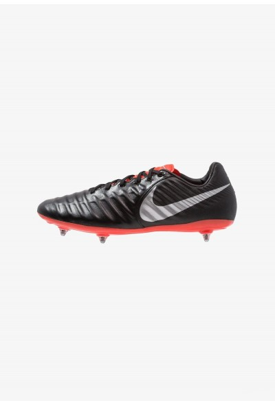 Nike TIEMPO LEGEND 7 PRO SG - Chaussures de foot à lamelles black/metallic silver/light crimson liquidation