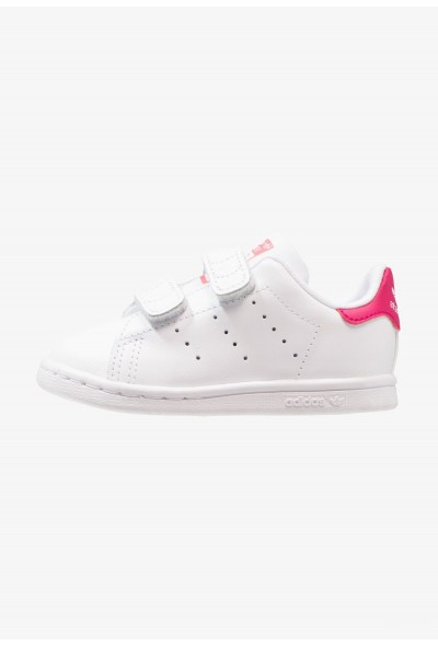 Adidas STAN SMITH CF I - Chaussures premiers pas white/bold pink pas cher