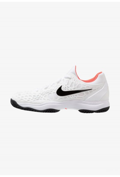 Nike AIR ZOOM CAGE 3 HC - Chaussures de tennis sur terre battue white/black/bright crimson liquidation