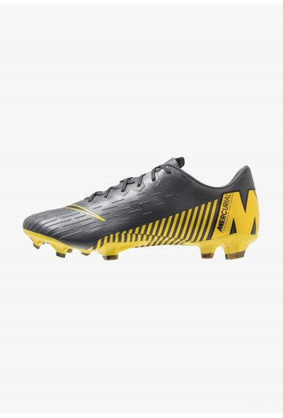 Nike MERCURIAL VAPOR 12 PRO FG - Chaussures de foot à crampons dark grey/black/opti yellow liquidation