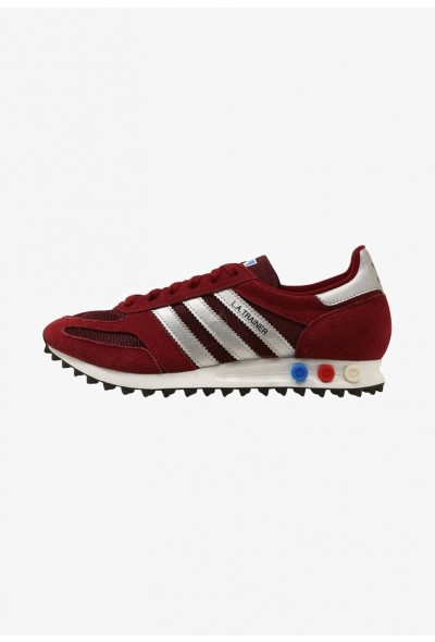 Adidas LA TRAINER - Baskets basses burgundy/silver/black pas cher