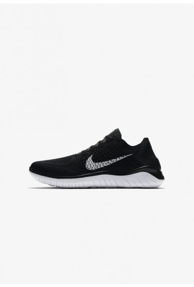 Nike FREE RUN FLYKNIT 2018 - Chaussures de course neutres black / white liquidation
