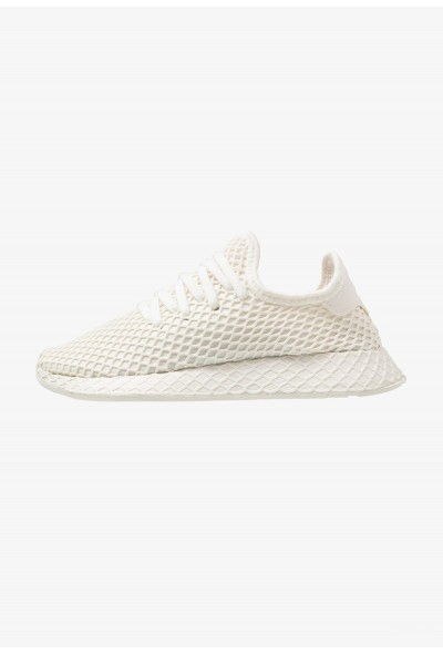 Adidas DEERUPT RUNNER - Baskets basses offwhite/footwear white/shock red pas cher