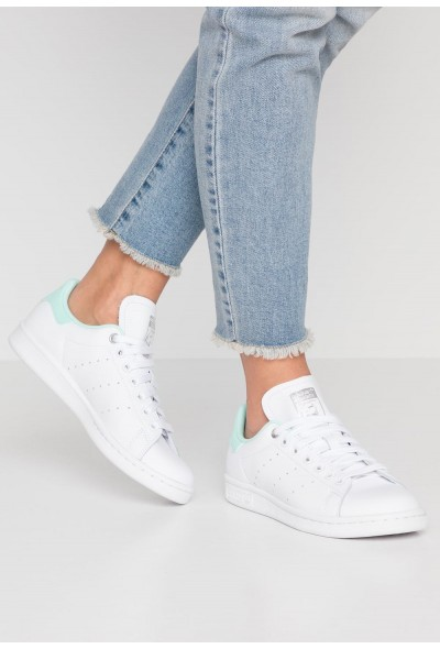 Cadeaux De Noël 2019 Adidas STAN SMITH - Baskets basses footwear white/silver metallic/clear mint pas cher